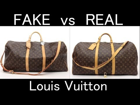 FAKE vs REAL. Louis Vuitton Monogram Keepall bandouliere 60