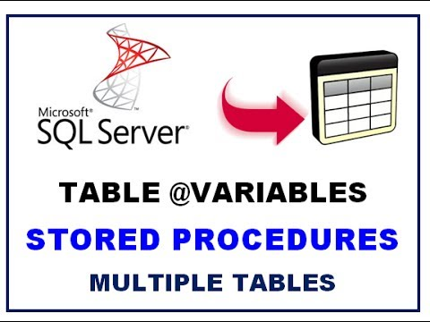 SQL Server Table Variables - STORED PROCEDURES - Multiple Table Variables