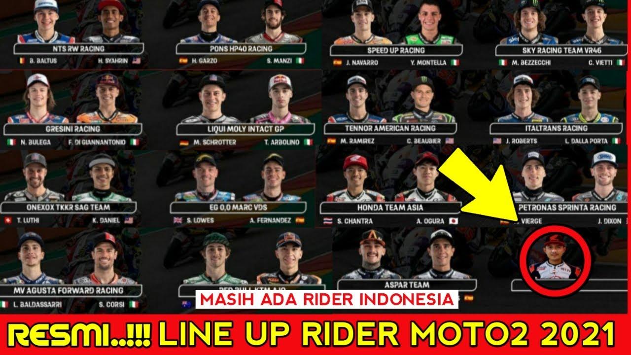 Line Up Rider Moto2 2021 - Daftar Pembalap Moto2 2021 - Rider Moto2 2021 | Rider motogp 2021