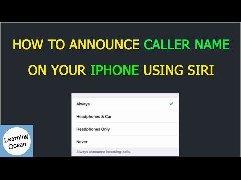 How To Announce Caller Name on your iphone using siri In Hindi