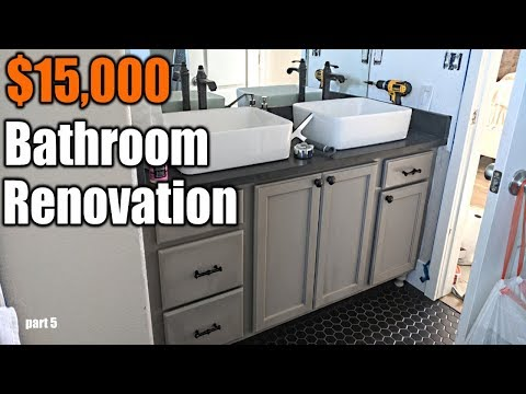 $15,000 Modern Bathroom Renovation 5 | THE HANDYMAN |