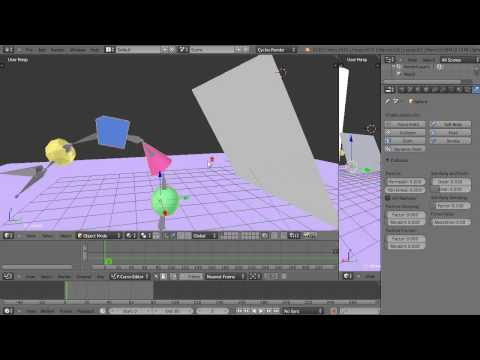 Blender Tutorial - Armature-based Objects Colliding with  a Cloth Object