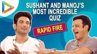 Sushant Singh Rajput & Manoj Bajpayee PLAY The Most HILARIOUS QUIZ Ever | Sonchiriya
