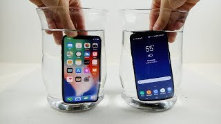 iPhone X vs Samsung Galaxy S8 Water Freeze Test! - What Will Happen?