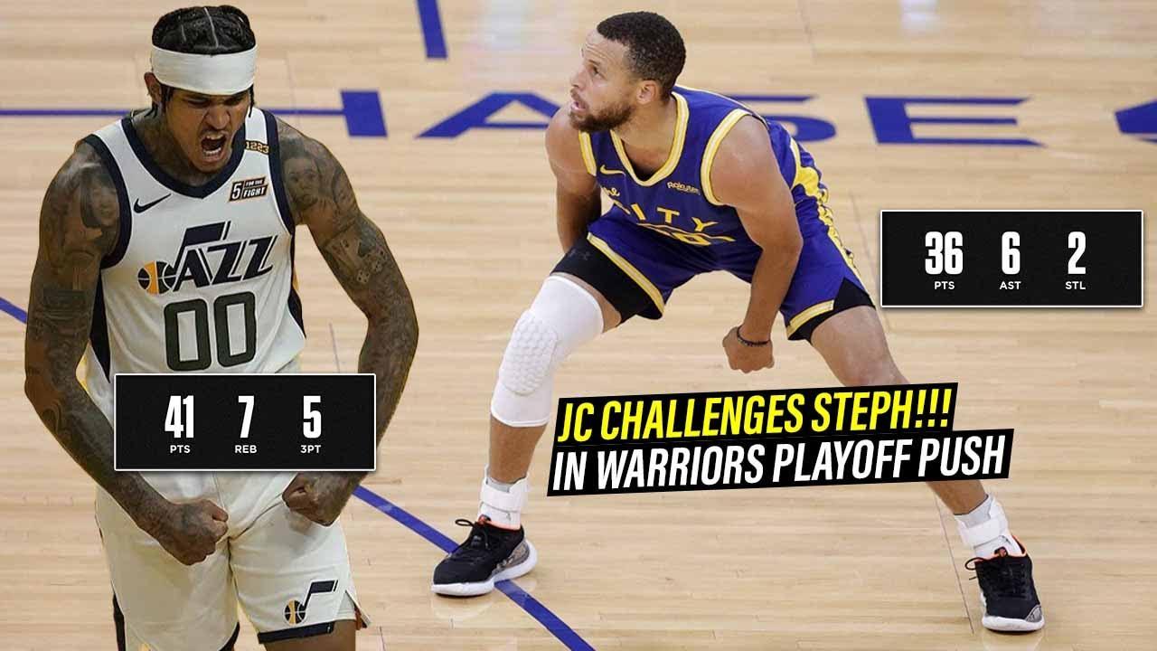 Jordan Clarkson Challenges Stephen Curry! Full Duel Highlights (10.05.21) [1080p]