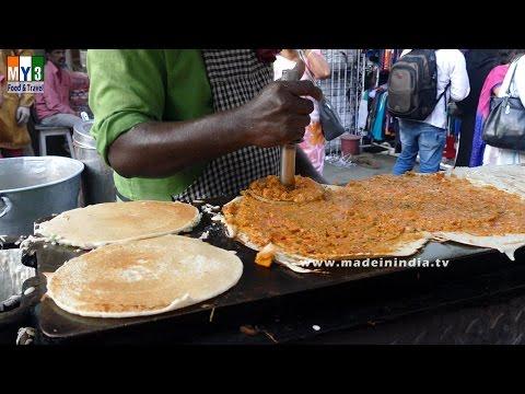 Onion Uthapam & Masala Dosa | ROAD SIDE FOODS IN INDIA | MUMBAI STREET FOODS | 4K VIDEO