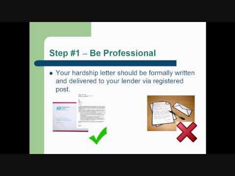 How To Write a Hardship Letter to a Mortgage Company That Gets Approved - Part1