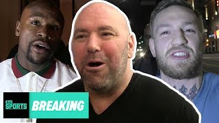 mayweather vs mcgregor is official exclusive dana white interview tmz sports
