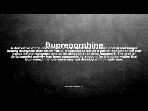 Medical vocabulary: What does Buprenorphine mean