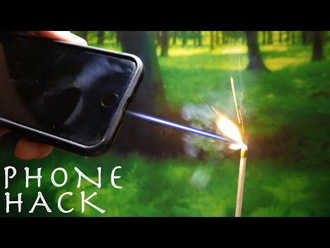 Turn Your Smartphone Into a BURNING LASER POINTER!?!?