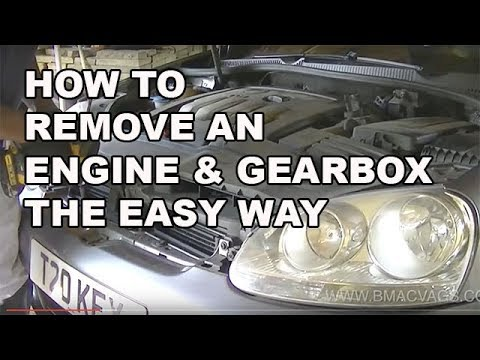 How to Remove a Engine and Gearbox the Easy Way