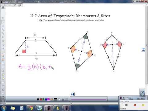Acc. Geometry 11.1-11.2 Area of Parallelogram, Triangle, Trapezoid, Rhombus, Kite