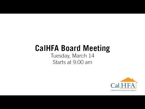 CalHFA Board Meeting - 03/14/2017