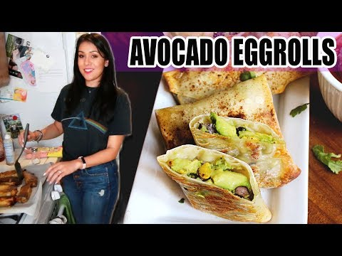BAKED AVOCADO EGGROLLS! 🥑 | Tasty Tuesday