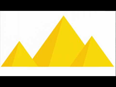 Egyptian pyramids shape - Adobe Illustrator tutorial. Super quick and easy way to make a  pyramid