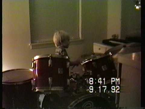 Donnie Marple Drumming at Age 5