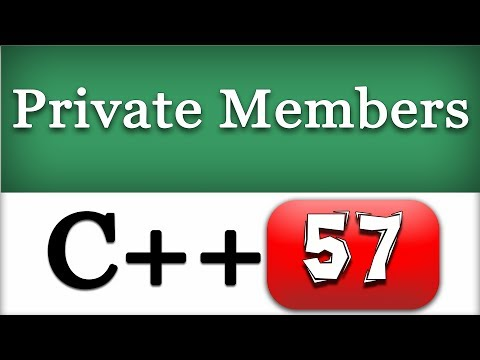 Private Access Specifier  | C++ Object Oriented Programming Video Tutorial