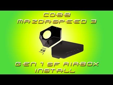 COBB MAZDASPEED 3 Gen 1 SF Airbox Install Video