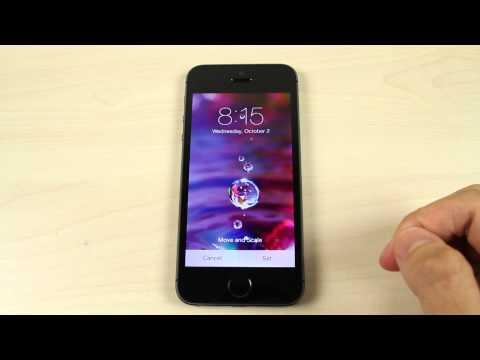 How to change the home screen and lock screen wallpaper on Apple iPhone 5S