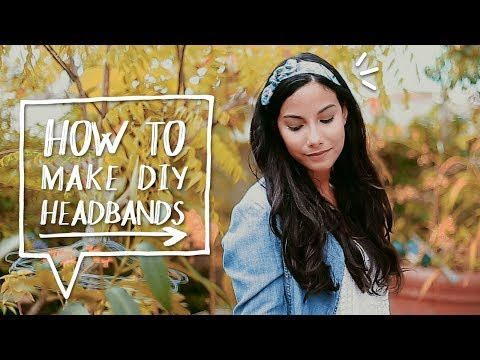 DIY HAIR ACCESORIES | How to Make a DIY Bow Headband Tutorial | Sewing Project ✨Alejandra's Styles