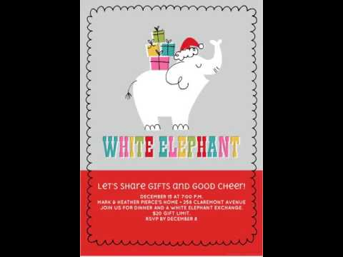 White Elephant Gifts - Christmas Invite