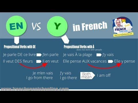 En vs Y in French, pronouns with Pascal