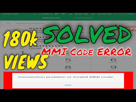 Connection problem or invalid MMI code | Problem Solved 100% | XIAOMI PHONE