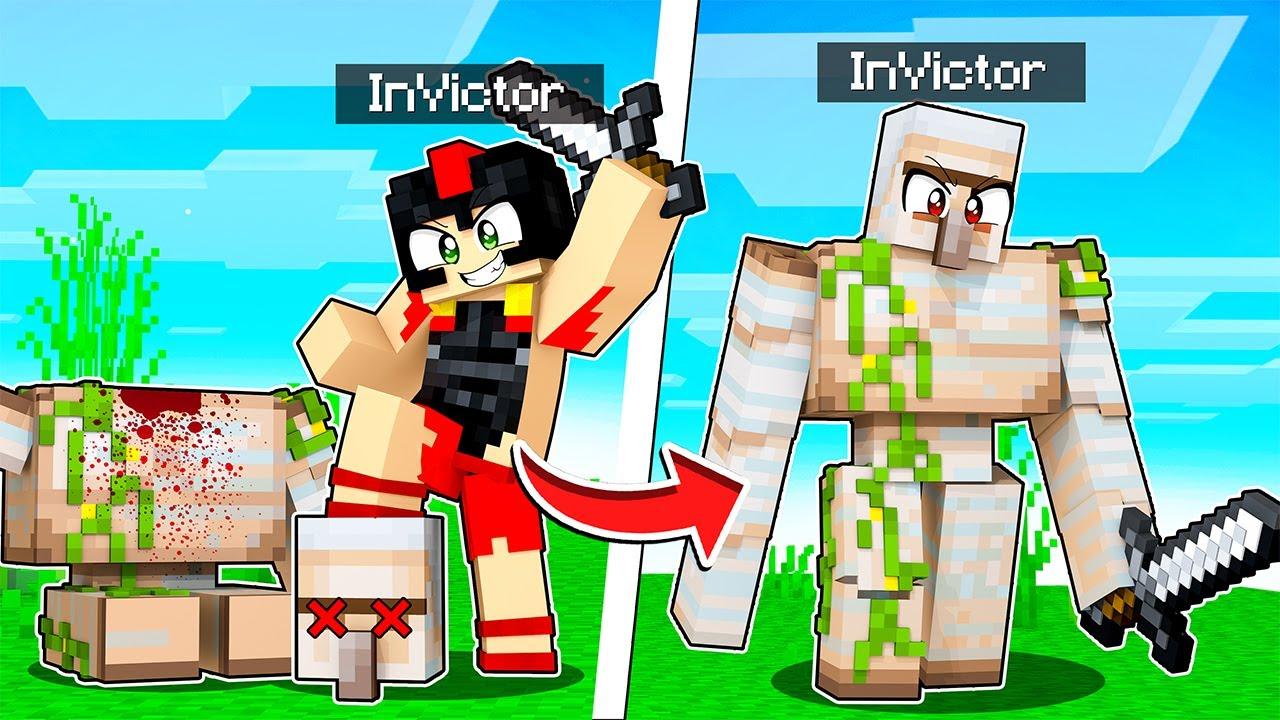 Paso MINECRAFT pero ME CONVIERTO en TODOS los MOBS que MATO 💀😂 Invictor Reto Minecraft #7