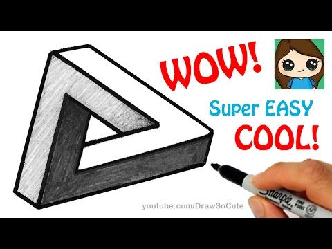 How to Draw the Impossible Triangle | Optical Illusion Fun