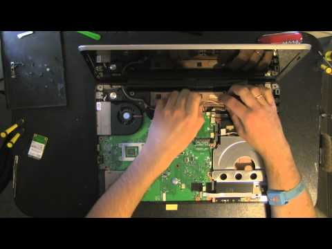 TOSHIBA Satellite A505 laptop take apart video, disassemble, how to open disassembly