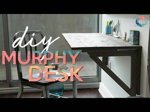 DIY Murphy Desk | Small Space Solutions