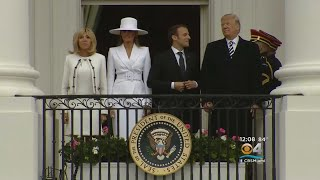 President Trump Hosts French President And His Wife