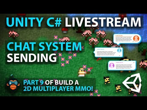 C# with Unity Live Programming #16 - Multiplayer 2D Top Down Adventure MMORPG Part 9