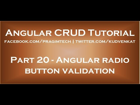 Angular radio button validation