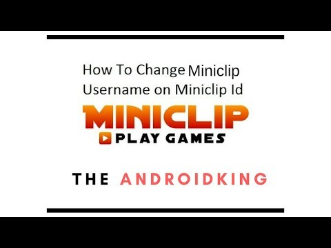 How To Change Name Of Miniclip Id ?