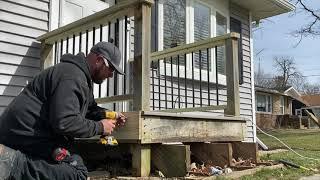 DIY easy deck railing