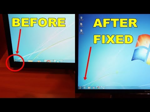 HOW TO FIX BIG SCREEN Connect PC / Laptop to TV Sony Bravia with HDMI / FIX Cut off Edge of Picture