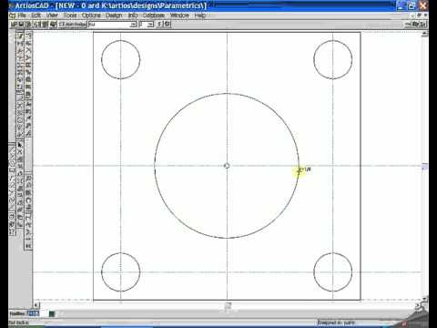 drawing square gaskets with bolthole in ArtiosCad part 2