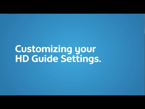 Customize your HD Guide I Shaw Direct Support & How To I Shaw Direct