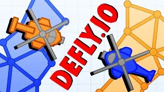 CONTROLLING THE MAP and DESTROYING ENEMY HELICOPTERS! - Defly.io Gameplay - New IO Game