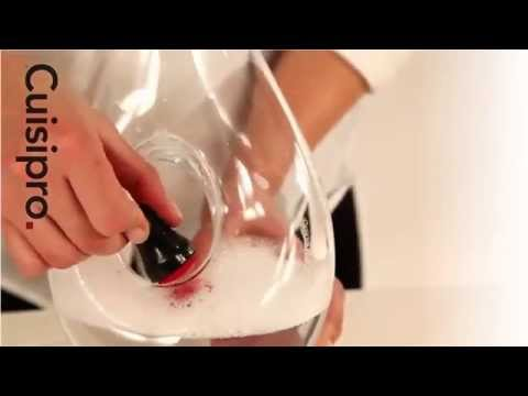 How to clean your decanter or glass using Cuisipro Magnetic Spot Scrubber - www.aolcookshop.co.uk
