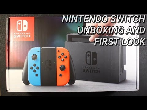 Nintendo Switch Unboxing and First Look