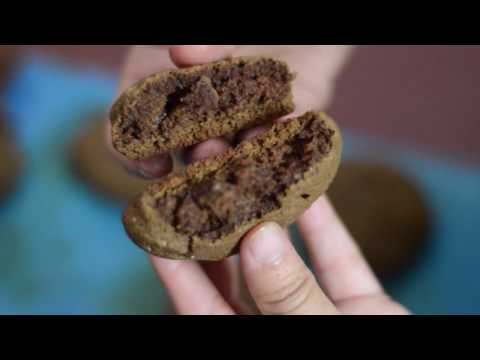 Easy Soft spongy whole wheat flour chocolate cookies with simple ingredients | for Begginers
