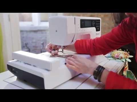 Tote bag sewing tutorial: how to embroider (5/9)