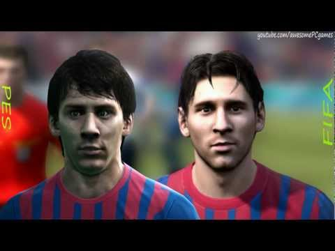 FIFA 12 vs PES 12 Head to Head - Faces #3 HD 1080p