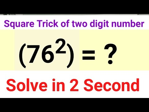 Square Trick of two digit numbers | Maths tricks of Calculation in Hindi (वर्ग की ट्रिक)