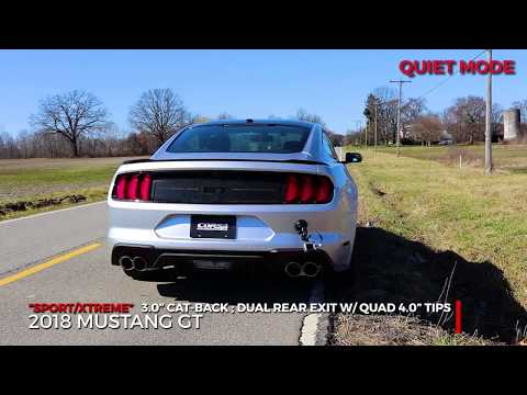 2018 Ford Mustang GT Performance Cat-Back Exhaust System CORSA Valves Xtreme Sport 21001