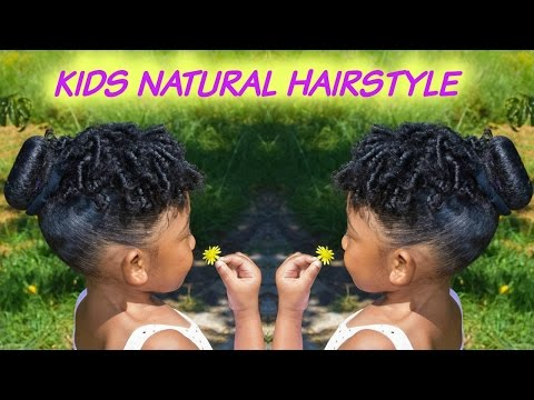 Kids Natural Hairstyles: The Sock Bun and Curls