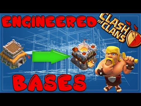 Clash Of Clans - The Complete Engineered Base Build Guide TH 8.5, 9.5, 10.5 + Calculating War Weight