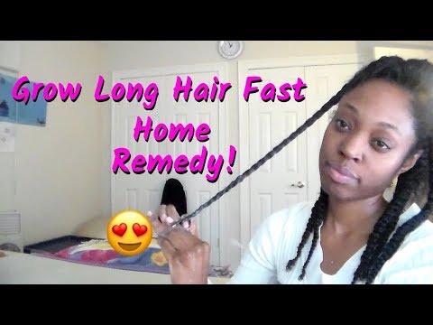 Grow Long Hair Fast Home Remedy | FIND OUT HOW! 😮😍